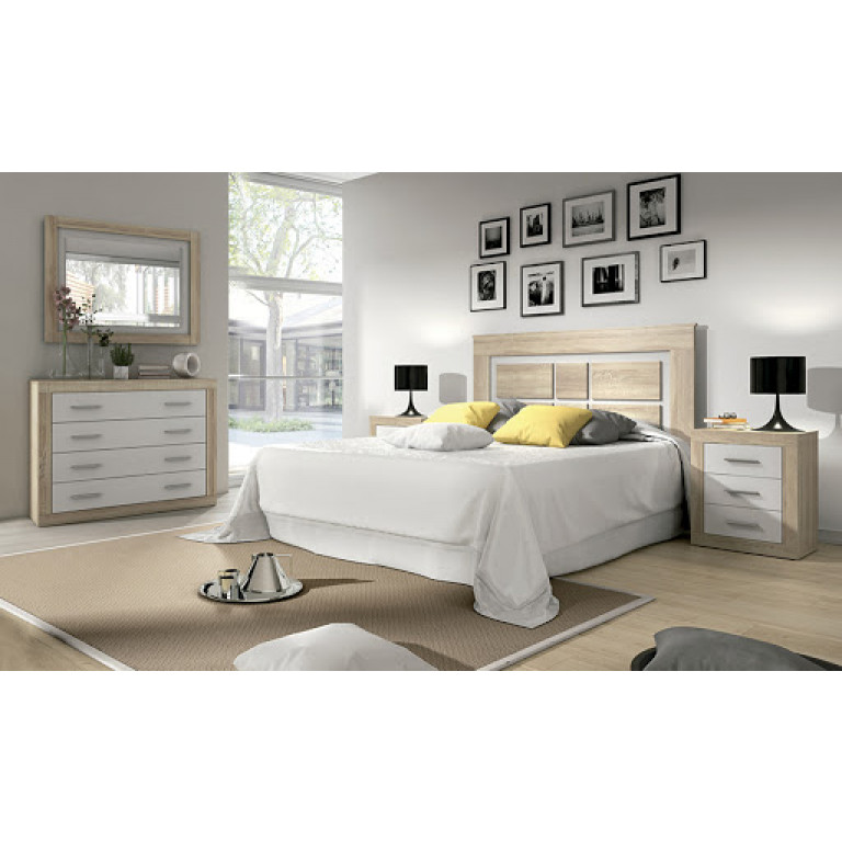 Dormitorio modelo LARA en color CAMBRIA BLANCO